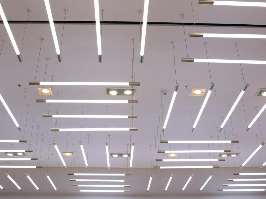 led verlichting op kantoor