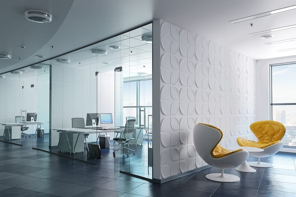 Een modern ingericht kantoor