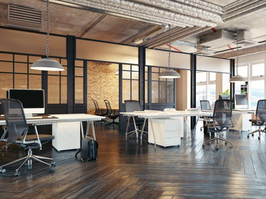 kenmerken van een industriële kantoordesign