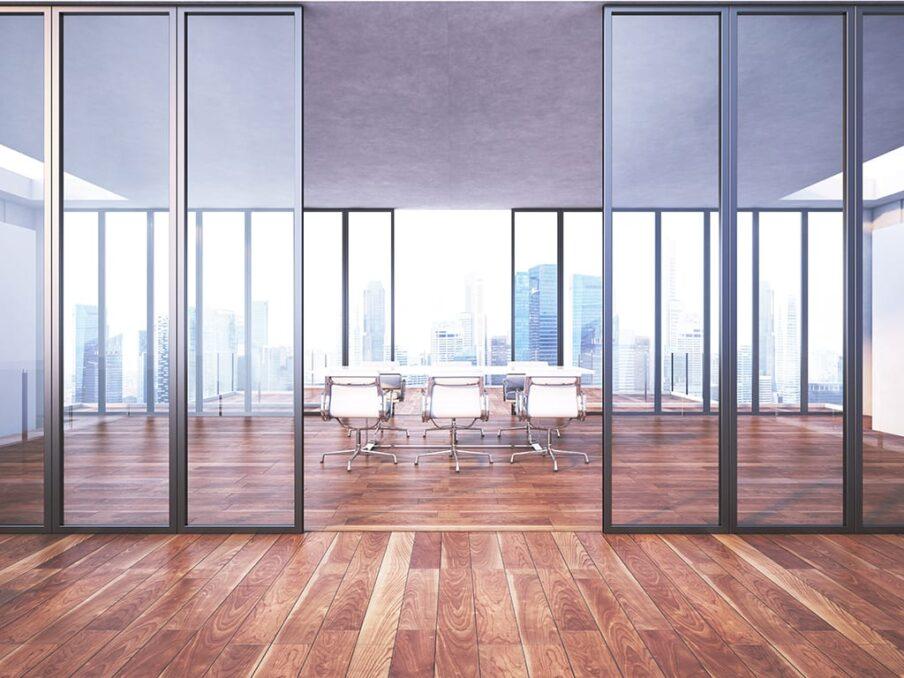 Glazen wanden design